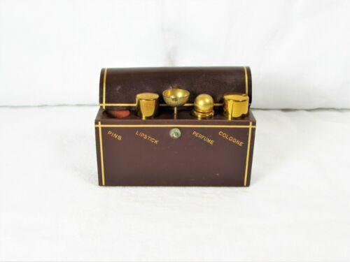 1950's Etui Perfume Case W/ Cologne & Perfume Bottles, Lipstick Holder, Funnel