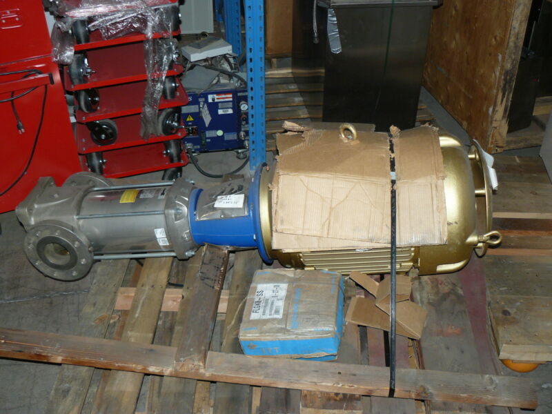 GOULDS G&L SERIES SSV PUMP 92SVDD2K2AT W/ BALDOR SUPER-E MOTOR 60HP 3560RPM NEW