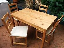 IKEA Dining table + 4 chair set with cushions Darlinghurst Inner Sydney Preview