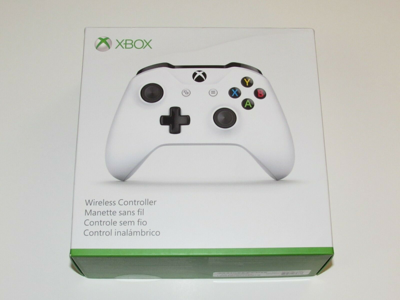 Box Has Cut - Microsoft Xbox One S White Wireless Bluetooth Controller 1708  - $46.95