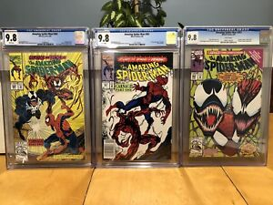 Amazing Spider-Man 361,362 and 363 all cgc 9.8