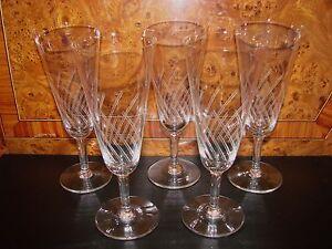 ancienne coupe a vin de champagne en verre x 5 flute verre raisin glass n 19 ebay. Black Bedroom Furniture Sets. Home Design Ideas