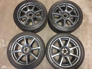 4 mags de Blitz (5X100) 17X8  offset47. Bridgestone  225/45R17