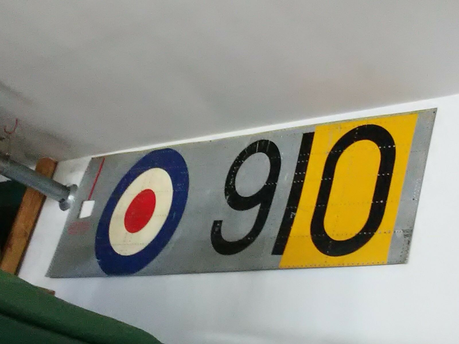 HAWKER SEA FURY SIDE PANEL WITH ROYAL NAVY MARKINGS  RARE TO FIND!!!