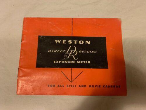 Weston Direct Reading Exposure Meter Operating Manual Original  (manual only)