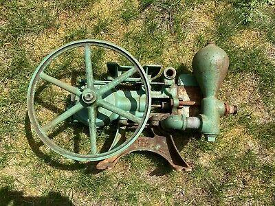 Antique Vintage Shetler Piston Pump Michigan Hit Miss Engine Era Steampunk