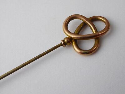 Antique Art Nouveau Murrle Bennett Co 9ct Rose Gold Hat Pin