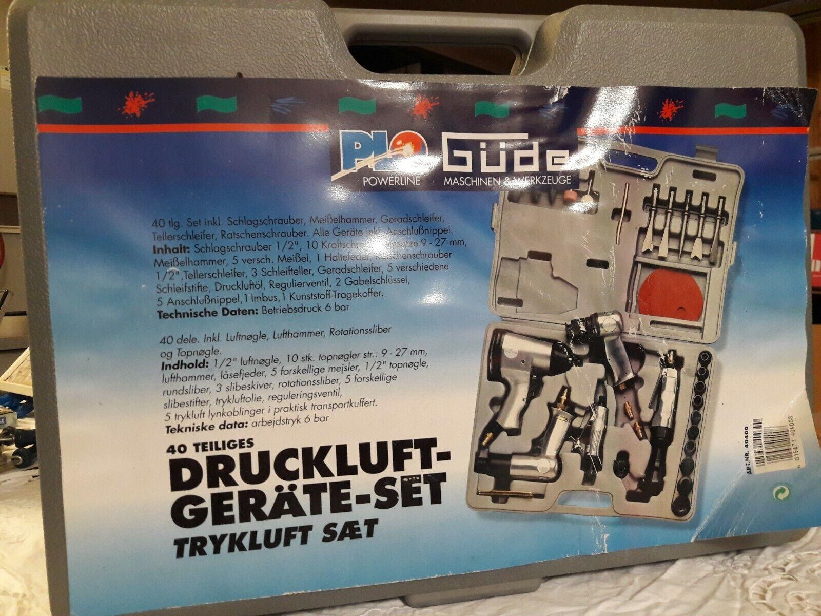 Güde Druckluftgeräte-Set 40-tlg.Schlagschrauber Ratsche Meißel Schleifer(16A151)