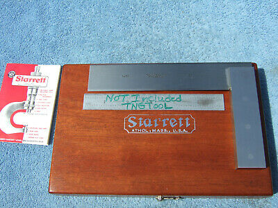 Starrett No.55 6 Square Wooden Box Beveled Edge Toolmaker Machinist Usa Squares
