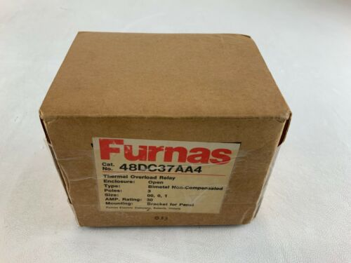 NEW FURNAS 48DC37AA4 THERMAL OVERLOAD REALY