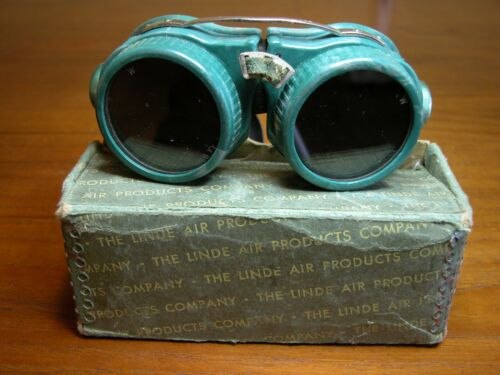 Oxweld Welding Goggles In Original Linde Air Products Box By Willson Steampunk