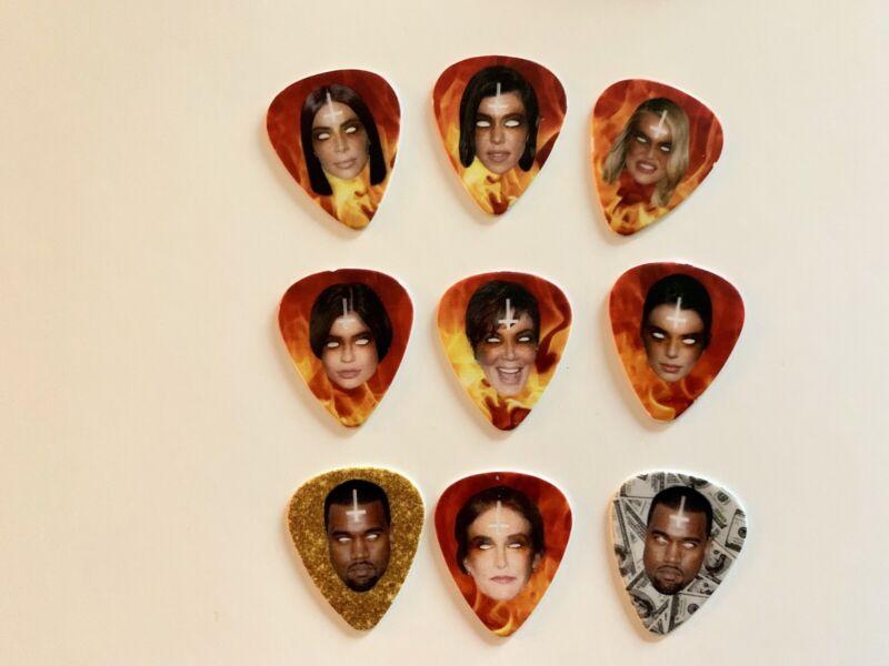 Gary Holt Kardashian Family Souvenir Pick Set Includes 2 Kanye Picks!