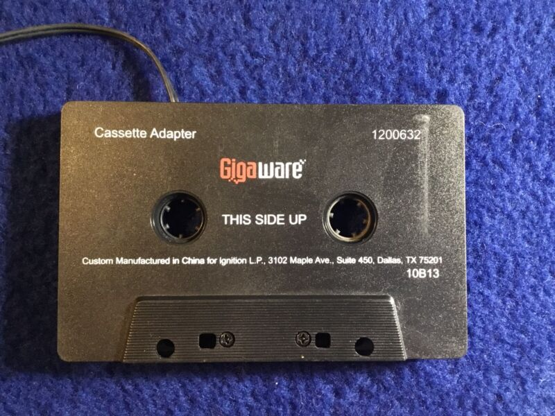 Gigaware Cassette Tape to Auxiliary Port/Mp3 Adapter, For Use In Cassette Decks
