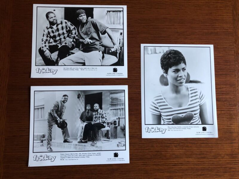 1995 FRIDAY MOVIE 3 PRESS PHOTOS ICE CUBE CHRIS TUCKER NIA LONG BERNIE MAC