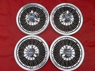 NOS 1968 FORD GALAXIE 500 MUSTANG 3 BAR SPINNER WIRE HUBCAPS WHEEL COVERS