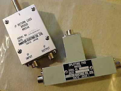 Anritsu Return Loss Bridge And 6db Splitting Pad 75ohm Mr54a Ma59a