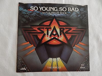 Starz  So Young  So Bad  Picture Sleeve  New  Nicest Copy On Ebay