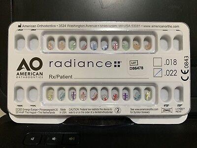 American Orthodontics Radiance Brackets Clear Mbt .22
