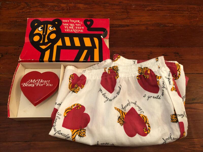 "Vintage JOCKEY Valentine Boxers & Wind Up Heart ""HEY TIGER"" Original Box 36 USA"