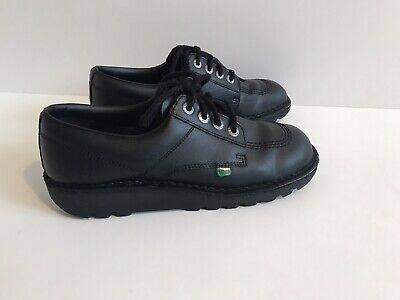 Kickers Kick Lo M Core Black Leather Shoes - Size Euro 42 Uk 8