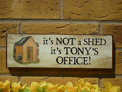 PERSONALISED GARDEN OFFICE SIGN SHED SIGN OFFICE SUPPLIES PENS PAPER PADS A4 - Personalized Office Supplies