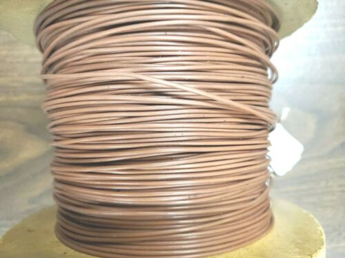 Teflon 18AWG TFE 18GA BROWN strand WIRE silv plated $ per 20ft section freeship