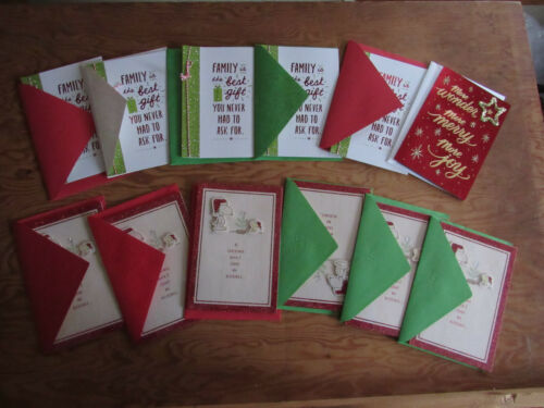 Lot of 12 Brand New/Unused Hallmark Christmas Cards