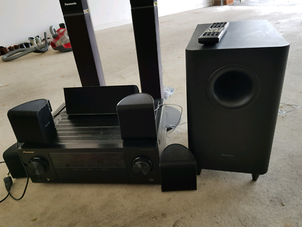 Pioneer 5.1 home theater system with 2 extra speakers