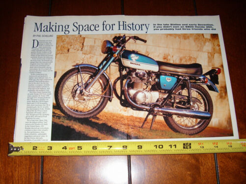 1970 HONDA 350 - ORIGINAL 2000 ARTICLE
