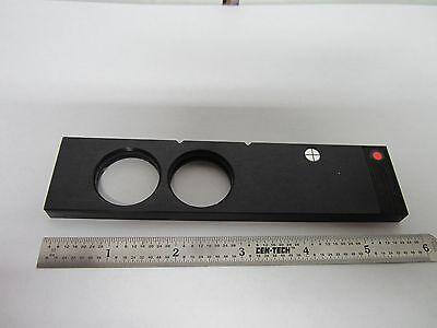 Optical Microscope Polyvar Reichert Leica Filter Crosshair Optics Bin46-l-4