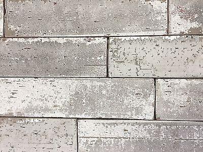 2.5x9.5 London Soft Gray Smoke Glazed Extruded Brick Wall Field Tile -