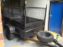 7X4 BOX TRAIELR  HIGH SIDE WITH 600MM CAGE NSW REGO FREE Smithfield Parramatta Area Preview