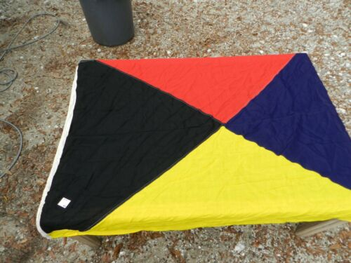 "Vintage Big Ship Cloth Flag  Letter ""Z""    5 ft X 4 ft"