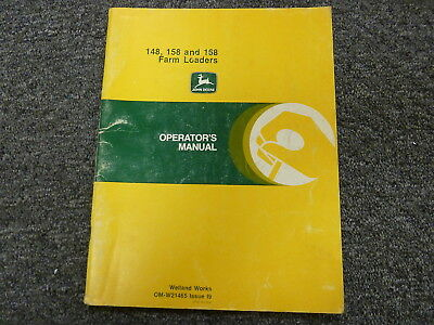 John Deere 148 158 168 Farm Loader Attachment Owner Operator Manual Omw21465