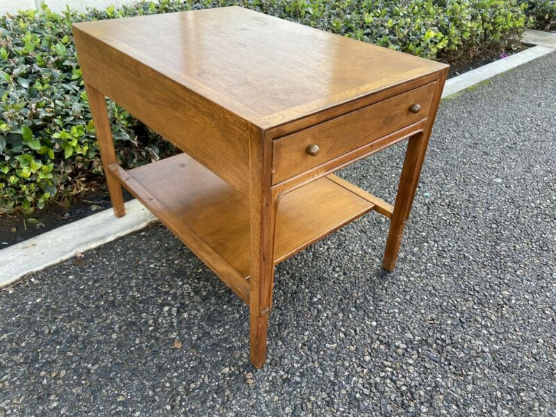 Mid Century Modern End Table MCM solid wood By JANUS