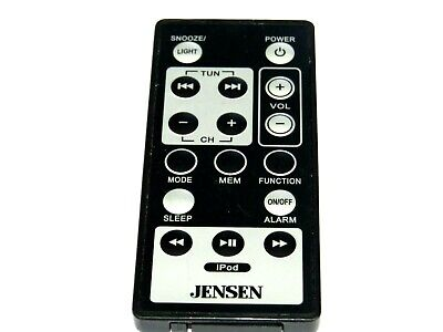 JENSEN JiMS-190 iPOD DOCKING MUSIC AUDIO SYSTEM Remote Control BATTERY REPLACED