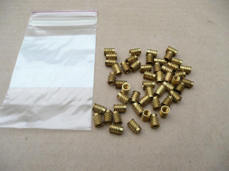 Groov-Pin Brand, Brass Threaded Inserts, 10-32, 50 pcs.