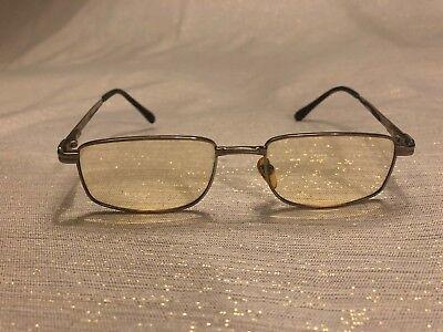 Revillon Eyeglasses Vintage Silver Tone Black Rubber Prescription 140mm Paris