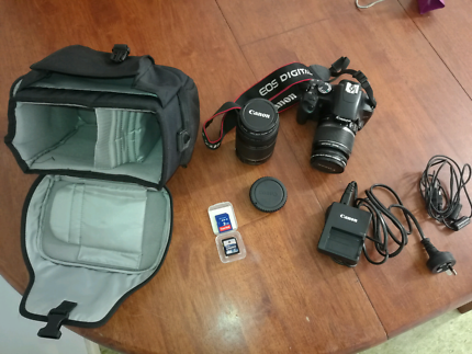 Canon 450D plus twin lense kit, sd cards, tripod and carry case