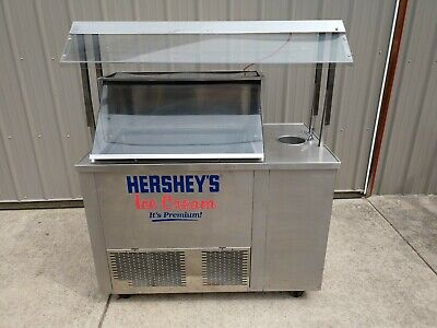 Hersheys Ice Cream Cart Ice Cream Dipping Cabinet W Scoop Basinfaucet
