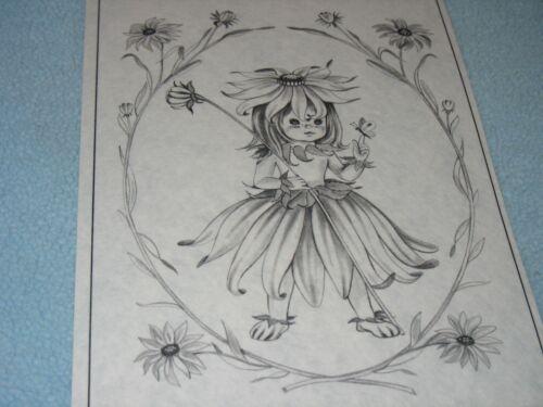 * TRI CHEM 8255 B BLACK EYED SUSAN HAT BABY DOLL FLOWER GRIL BEE Picture TRICHEM
