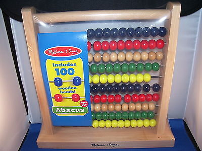 Abacus Wooden Frame with 100 Wooden Beads Childrens 3 and up Melissa and Doug 7