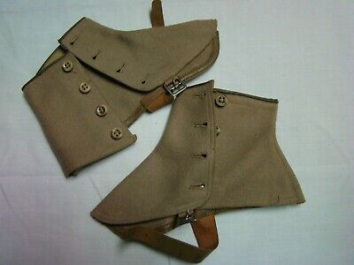 Spats, Gaiters, Puttees – Vintage Shoes Covers WW II US Navy Uniform Spats Boot Covers, Original Military Period Items WW2 $22.00 AT vintagedancer.com