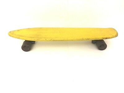 Vintage Acex Ultimate Yellow Penny Board Skateboard Urethane Stud Truck Wheels for sale  Brentwood