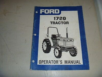 Ford 1720 Compact Utility Tractor Owner Operator Maintenance Manual