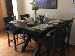 Pub Height Dining Table and Chairs