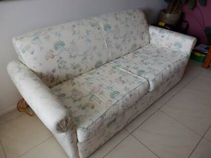 Sofa Bed 2.5 seater with metal base double bed and mattress