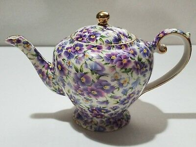 Vintage 1950s Arthur Wood Staffordshire England CHINTZ Floral English Teapot