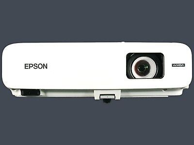 Epson PowerLite 826W+ LCD Projector 2500 Lumens HD HDMI w/Adapter Remote