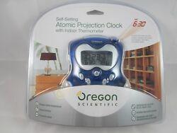 Oregon Scientific Self Setting Atomic Projection Clock w/ Temperature RM313PNA